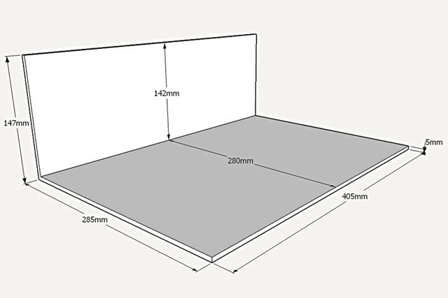 Dimensions diorama Alpine Usine de Dieppe - 1:18