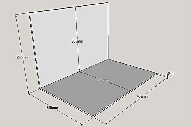 Dimensions diorama Alpine rond-point des Canadiens - Dieppe - 1:18