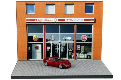 Diorama Alfa Romeo Abarth Jeep Fiat - 1:64 | 3inch
